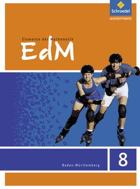 Elemente der Mathematik SI - Ausgabe 2016 für Baden-Württemberg Schülerband 8