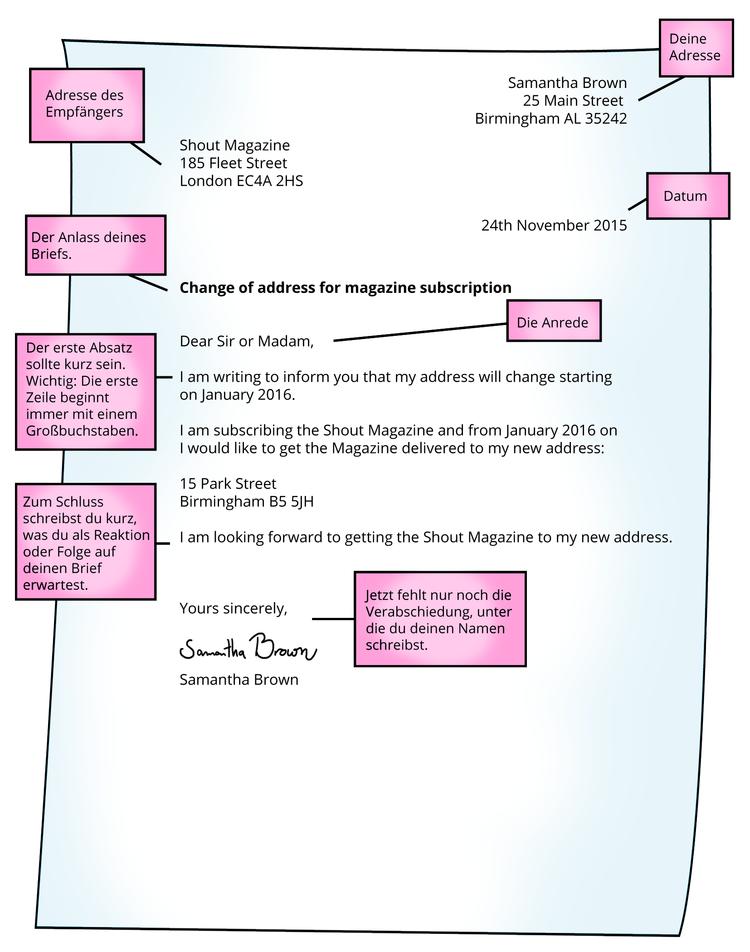 Briefe Schreiben Formaler Brief Englisch Klasse 9 Und 10