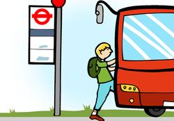 present progressive bus