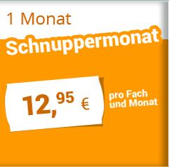1 Monat Schnuppermonat 12,95 €