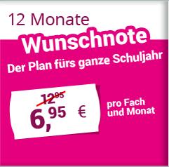 12 Monate Wunschnote 6,95 €