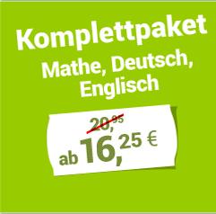Komplettpaket Mathe, Deutsch, Englisch ab 15,95 €