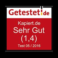 Getestet.de Sehr Gut (1,4)