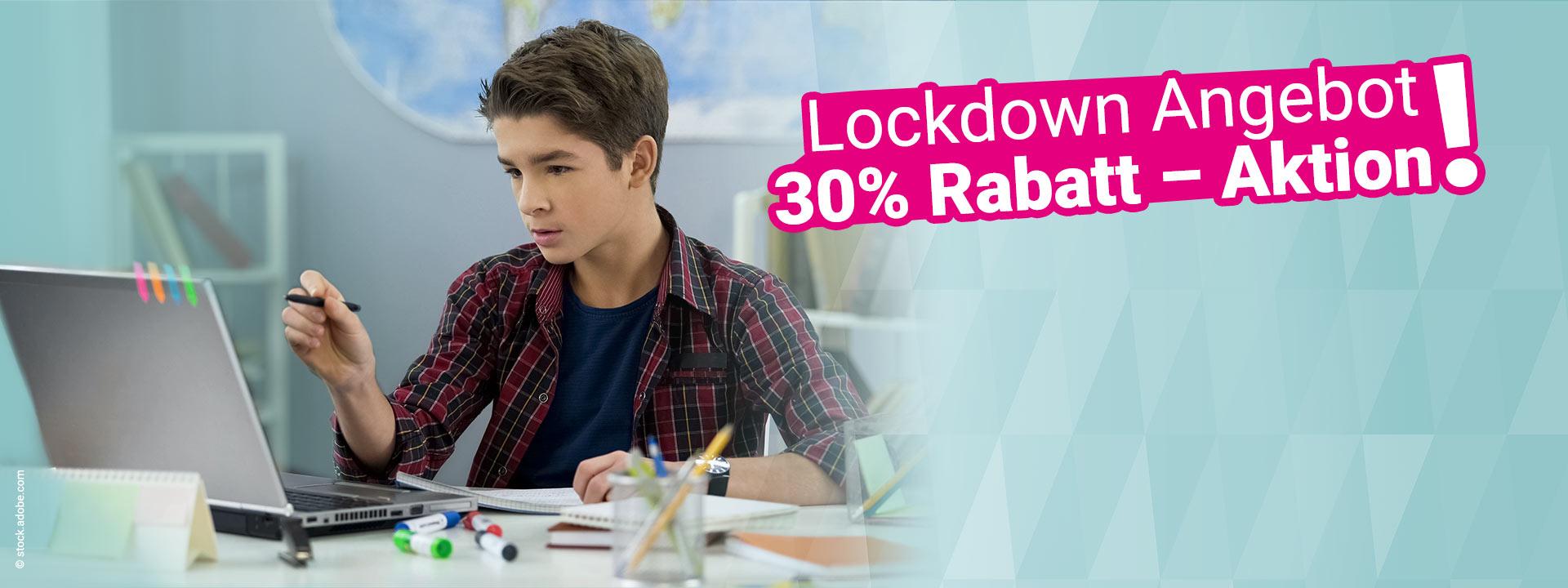 Lockdown-Aktion 30% Rabatt