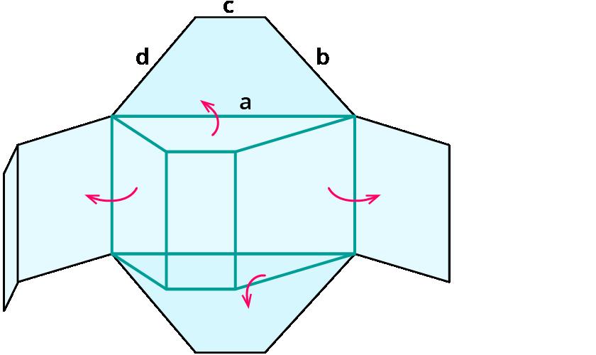 Netz dreiecksprisma zeichnen