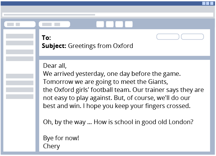 E Mail Und Briefe Auf Englisch Verstehen Klasse 56 Kapiertde