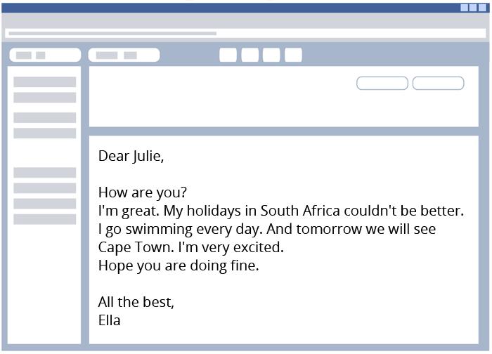 E Mails Briefe Schreiben Englisch Klasse 56 Kapiertde