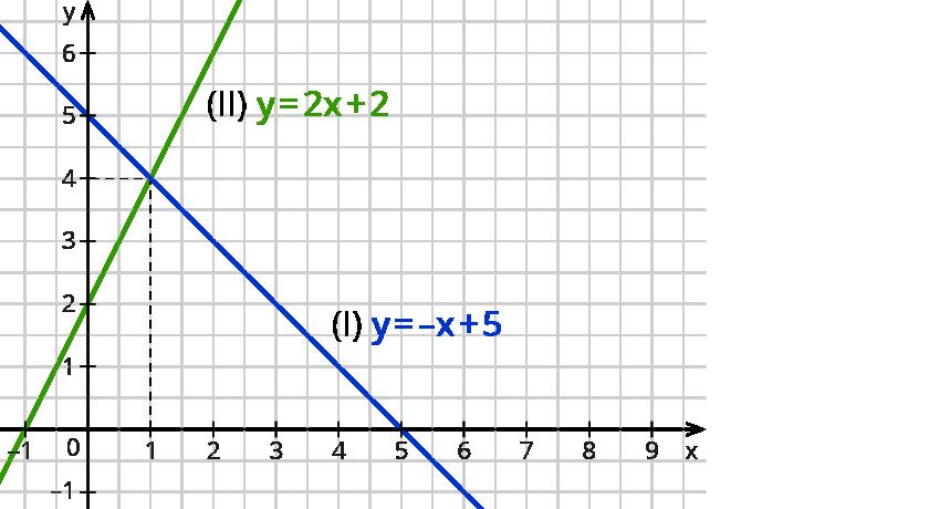 Grafische Lösung von Gleichungssystemen – kapiert.de