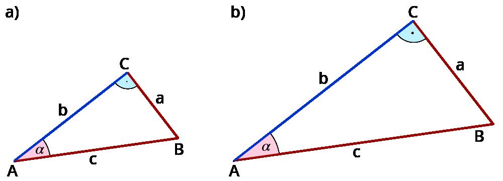 In rechtwinkligen Dreiecken mit Sinus, Kosinus und Tangens rechnen ...