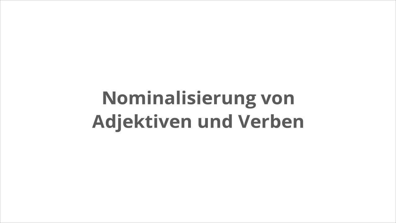 Nominalisierung von Verben – kapiert.de