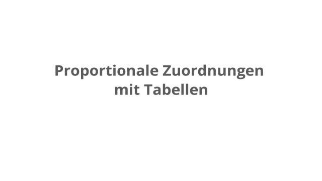 Berechnen von proportionalen Zuordnungen mit Tabellen – kapiert.de